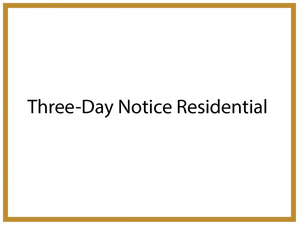 Three-Day Notice Residential